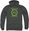 Green Lantern pull-over hoodie Section adult charcoal