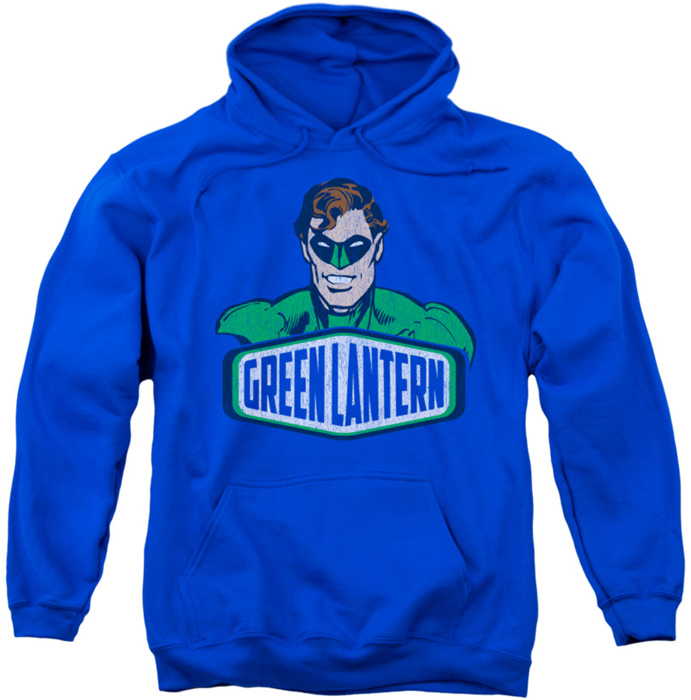 Pull Over Sign : Green lantern pull over hoodie sign adult royal blue