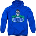 Green Lantern pull-over hoodie Sign adult royal blue