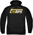 Green Lantern pull-over hoodie Sinestro Corps Logo adult black