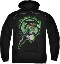 Green Lantern pull-over hoodie Space Cop adult black
