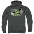 Green Lantern pull-over hoodie Space Cop adult charcoal