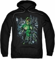 Green Lantern pull-over hoodie Surrounded By Death adult black