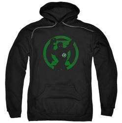 Green Lantern pull-over hoodie Symbol Knockout adult black