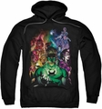 Green Lantern pull-over hoodie The New Guardians adult black