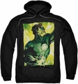 Green Lantern pull-over hoodie Up Up adult black