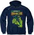 Green Lantern pull-over hoodie Vintage Cover adult navy
