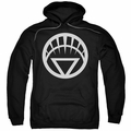 Green Lantern pull-over hoodie White Emblem adult black