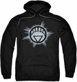 Green Lantern pull-over hoodie White Glow adult black