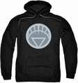 Green Lantern pull-over hoodie White Symbol adult black