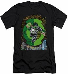 Green Lantern slim-fit t-shirt  #51 Cover mens black