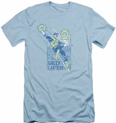 Green Lantern slim-fit t-shirt City Watch mens light blue