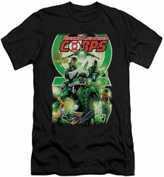 Green Lantern slim-fit t-shirt Corps #25 Cover mens black