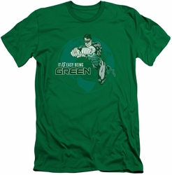 Green Lantern slim-fit t-shirt Easy Being Green mens kelly green