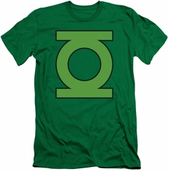 Green Lantern slim-fit t-shirt Emblem mens kelly green