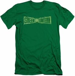 Green Lantern slim-fit t-shirt Flame Logo mens kelly green