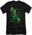 Green Lantern slim-fit t-shirt Fully Charged mens black
