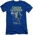 Green Lantern slim-fit t-shirt Fully Charged mens royal blue