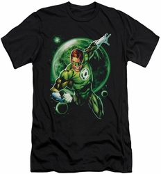 Green Lantern slim-fit t-shirt Galaxy Glow mens black