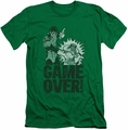 Green Lantern slim-fit t-shirt Game Over mens kelly green