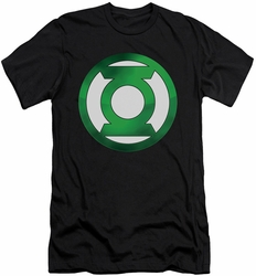 Green Lantern slim-fit t-shirt Green Chrome Logo mens black