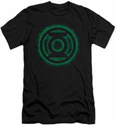 Green Lantern slim-fit t-shirt Green Flame Logo mens black