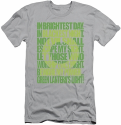 Green Lantern slim-fit t-shirt Green Lantern Oath mens silver