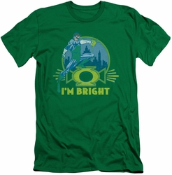 Green Lantern slim-fit t-shirt I'm Bright mens kelly green