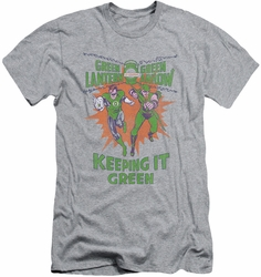 Green Lantern slim-fit t-shirt Keeping It Green mens athletic heather