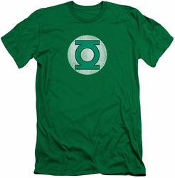 Green Lantern slim-fit t-shirt  Logo Distressed mens kelly green