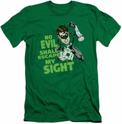 Green Lantern slim-fit t-shirt No Evil mens kelly green