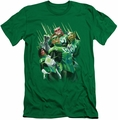 Green Lantern slim-fit t-shirt Power Of The Rings mens kelly green