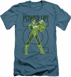 Green Lantern slim-fit t-shirt Power Up mens slate