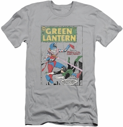 Green Lantern slim-fit t-shirt Puppet Menace mens silver