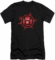 Green Lantern slim-fit t-shirt Red Glow mens black