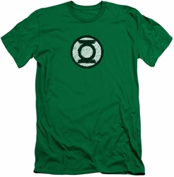 Green Lantern slim-fit t-shirt Scribble Lantern Logo mens kelly green