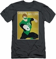 Green Lantern slim-fit t-shirt Simple Poster mens charcoal