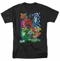 Green Lantern t-shirt Blackest Group mens black
