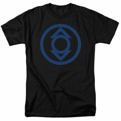 Green Lantern t-shirt Blue Emblem mens black