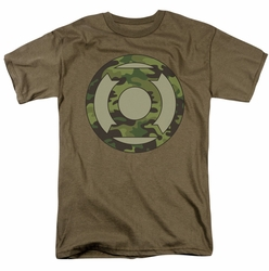 Green Lantern t-shirt Camo Logo mens safari green