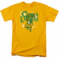 Green Lantern t-shirt Cosmic Strip mens gold