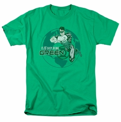 Green Lantern t-shirt Easy Being Green mens kelly green
