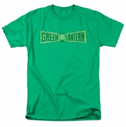 Green Lantern t-shirt Flame Logo mens kelly green