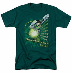 Green Lantern t-shirt Flying Oath mens hunter green