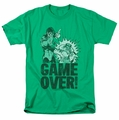 Green Lantern t-shirt Game Over mens kelly green