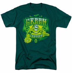 Green Lantern t-shirt Green Flames mens