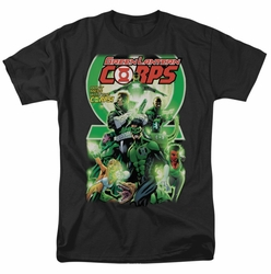 Green Lantern t-shirt Green Lantern Corps #25 Cover mens black