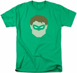 Green Lantern t-shirt Head mens kelly green