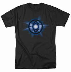 Green Lantern t-shirt Indigo glow mens black