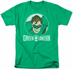 Green Lantern t-shirt Lantern Circle mens kelly green